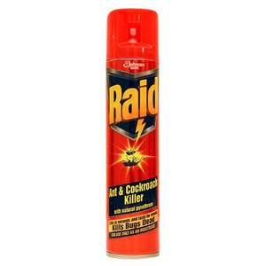 Johnsons  Raid Ant and Cockroach Killer 300ml - 10p at Wilko instore