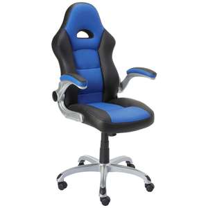 Staples Foroni Faux Leather Executive Office Chair, Black; Blue £60.05 with codes