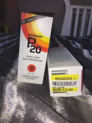P20 factor 30 once per day sun lotion normally £25 - £2.50 instore @ Tesco (Cheetham Hill)