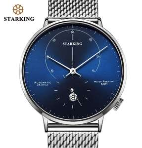 (Nomos Homage?) STARKING Automatic 28800 Beat Sapphire 5ATM £38.43/£37.70 On App+Coupons Available(Leather/Steel Strap,Colours) @ Aliexpress
