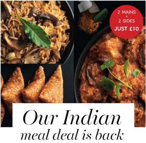 M&S Indian Take Away 2 Mains & 2 Sides £10 In-store @ M&S