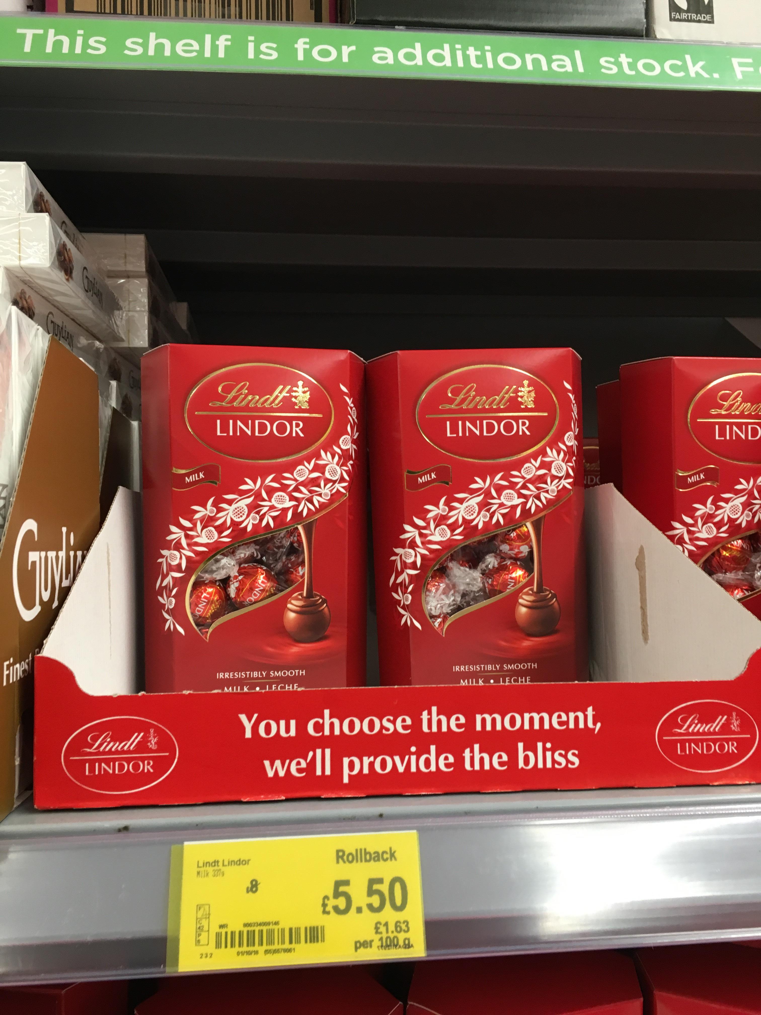 Lindor Lindt Chocolate - £5.50 instore @ ASDA