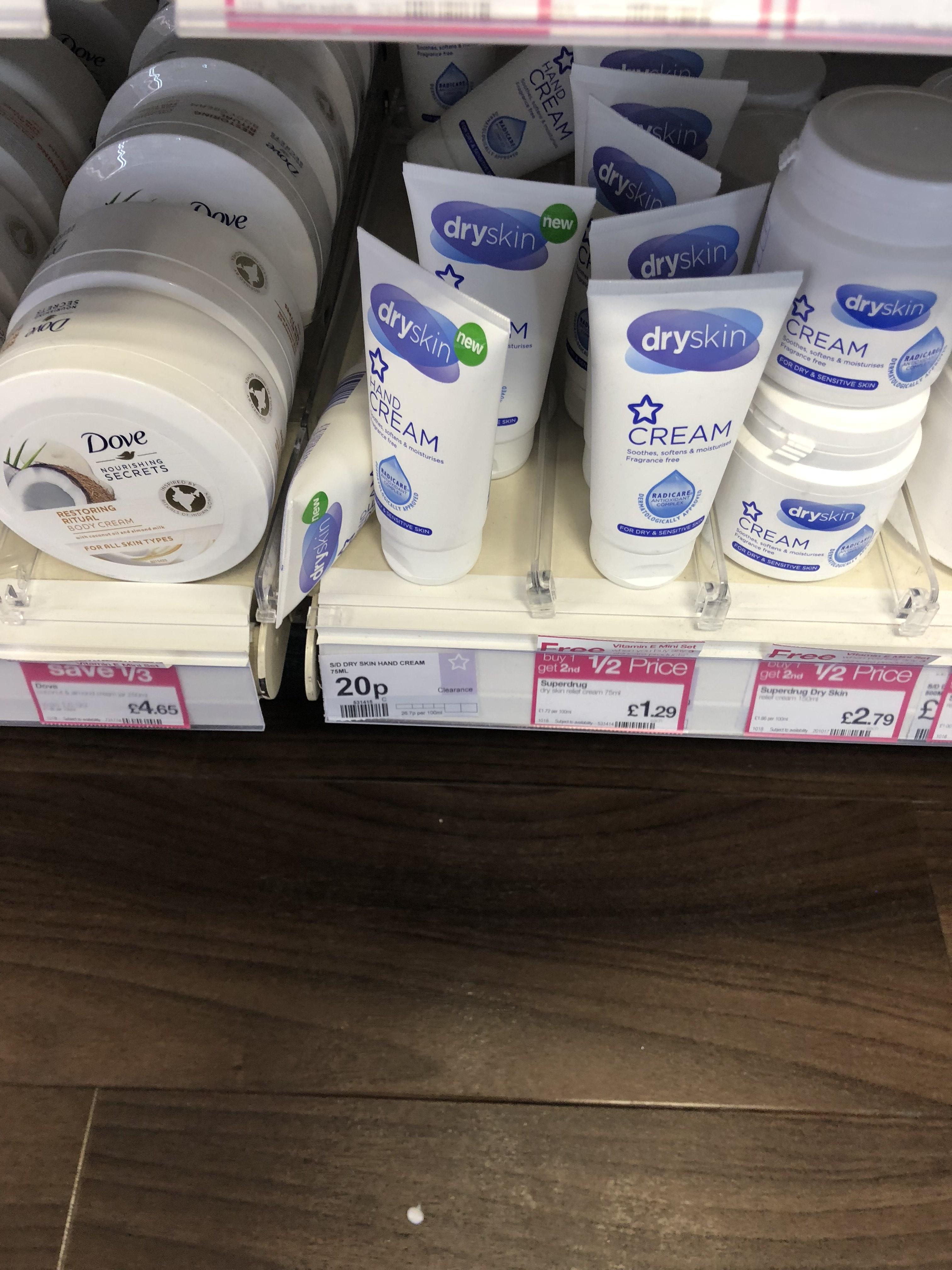 Superdrug dry skin hand cream 75ml - 20p instore (Bexleyheath)
