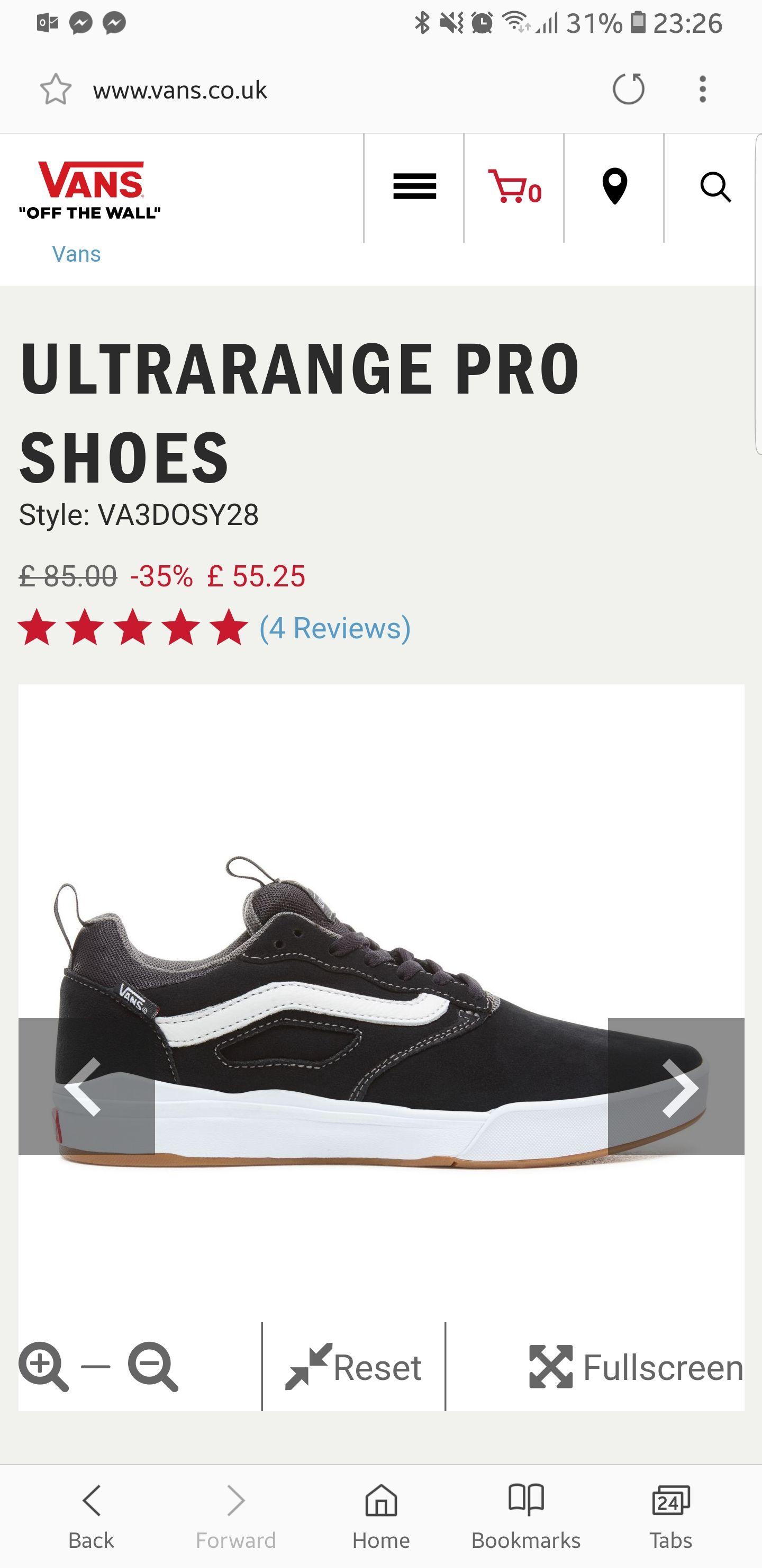 Van's ultrarange Pro Black and White trainers - £49.72 with code @ Vans