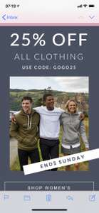 Jack Wills 25% Off Clothing (On Full price items)