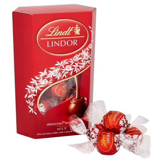 Lindt Lindor Milk Chocolate Truffles Carton 200G £3.50 Tesco