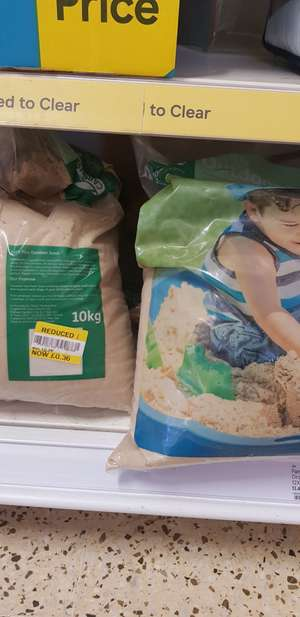Outdoor sand £0.36 10 kg instore at Tesco Narborough road Leicester