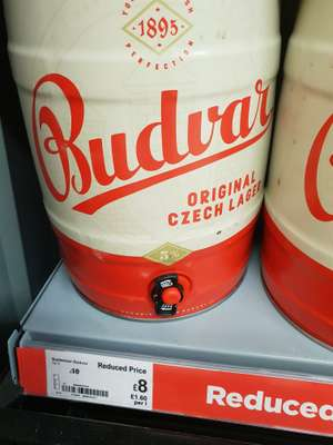 Budweiser 5L can only £8 Asda (Greenhithe)