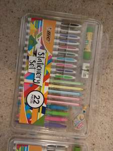 Asda Bic 22 piece Stationery set including tippex mouse & glue stick 50p!