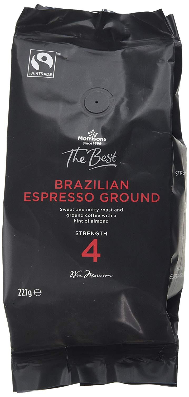Morrisons The Best Brazilian ground espresso coffee 227g £1.98