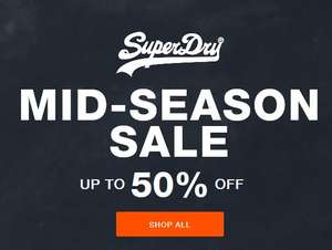 Mid season sale upto 50% off items from £3.49 eg sneakers now £15, boxers £7.50, t-shirts from £11.50 free delivery & returns @ Superdry