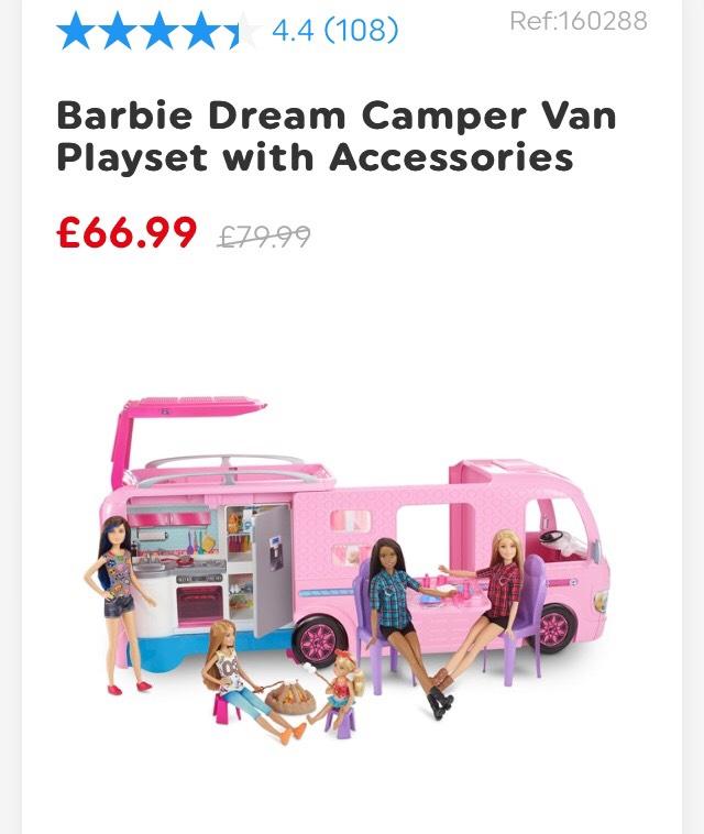Barbie pop out camper van - £66.99 @ Smyths