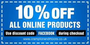 Crampton and Moore offering 10% off on all online products!