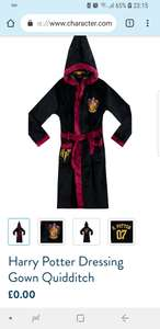 Free  kids Harry potter dressing  just pay postage! £3.95 @ Character.com
