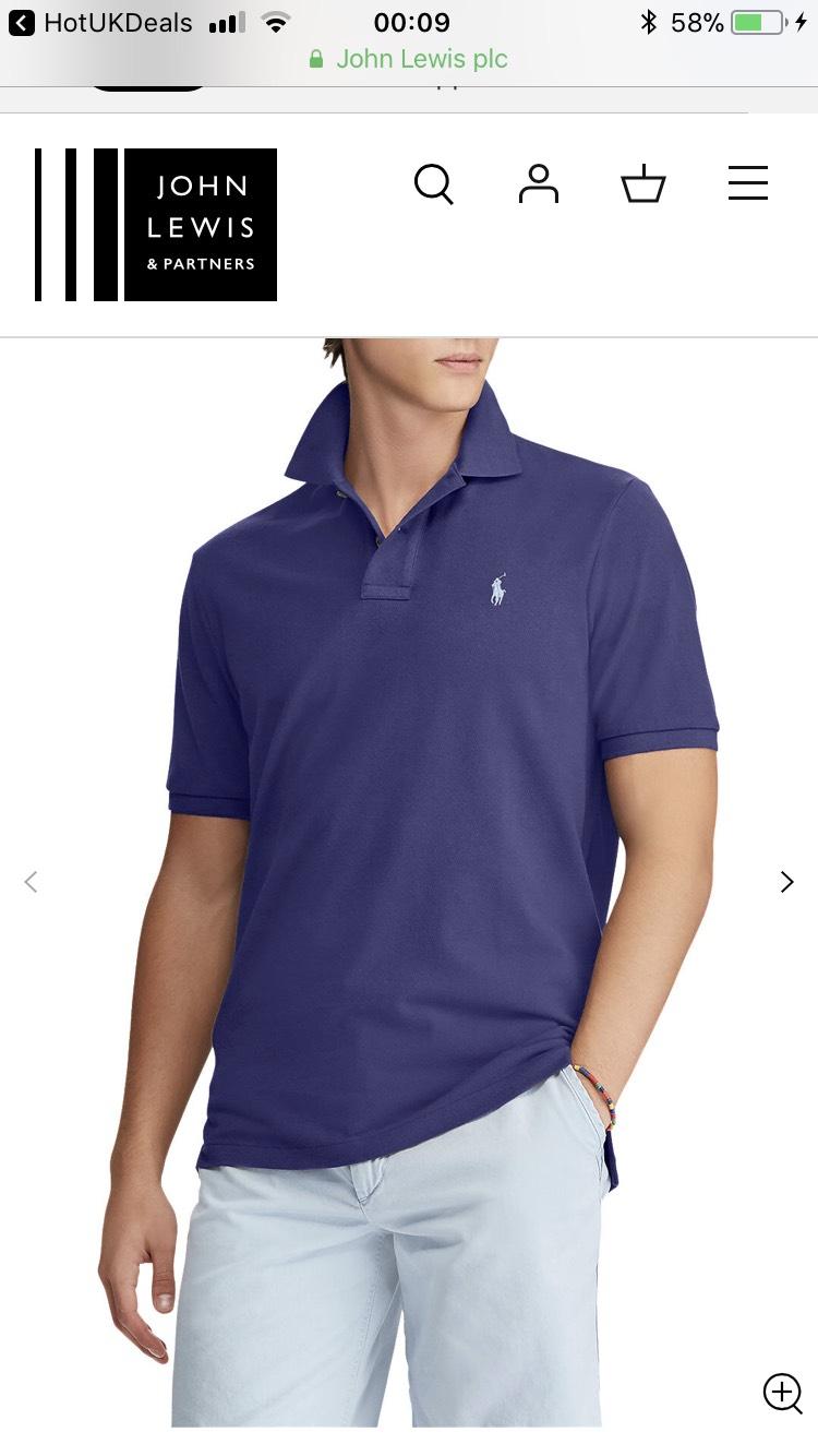 Men's Ralph Lauren slim fit polo shirt in Fall Royal £30 John Lewis & Partners