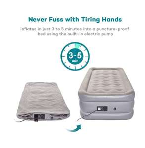 Sable Inflatable Bed Air Mattress Single Size with Built-in Electric Pump £45 @ Amazon - Sold by Sunvalleytek-UK and Fulfilled by Amazon.