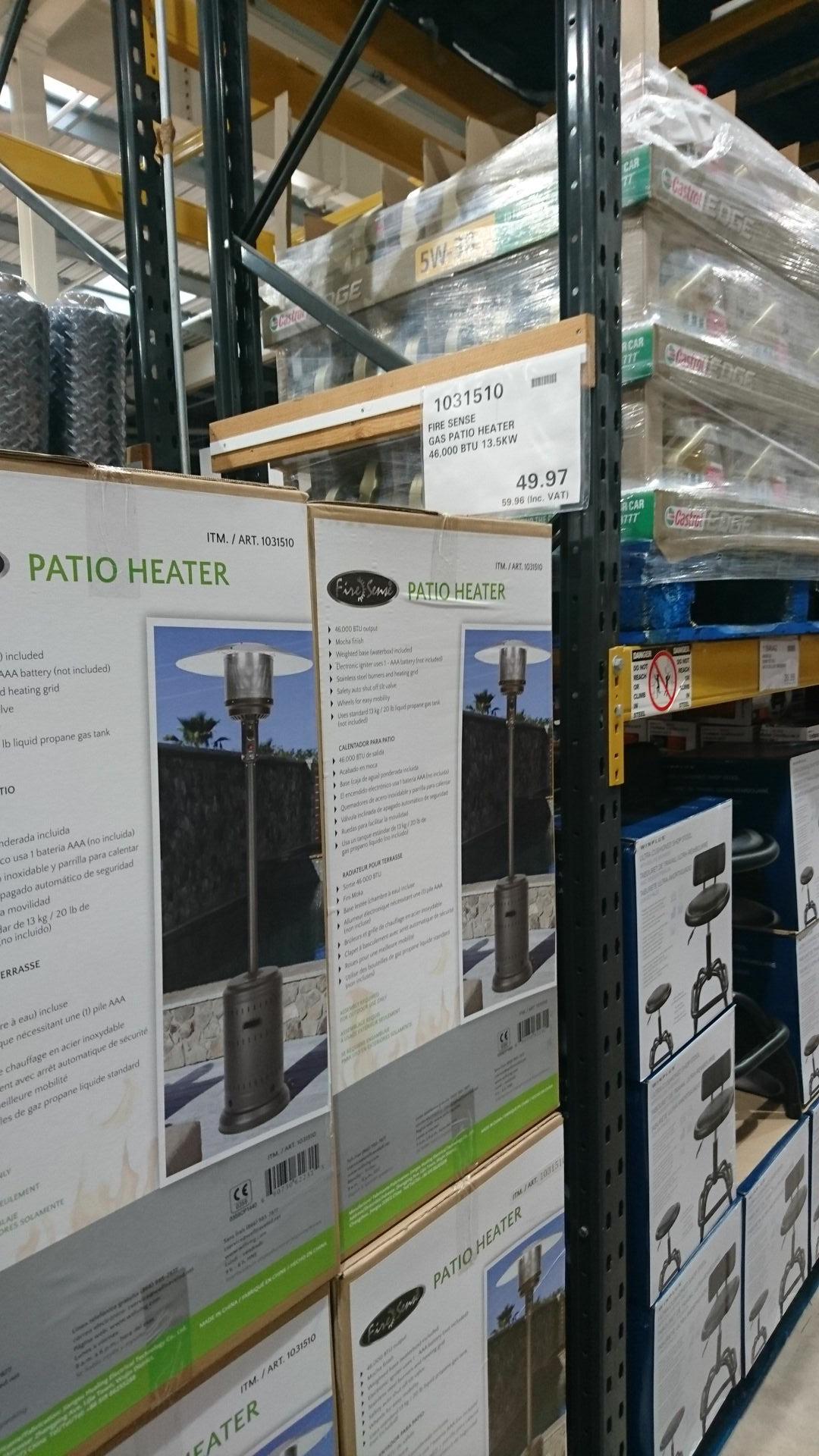 FireSense Garden patio gas heater £59.98 costco instore (Cardiff)