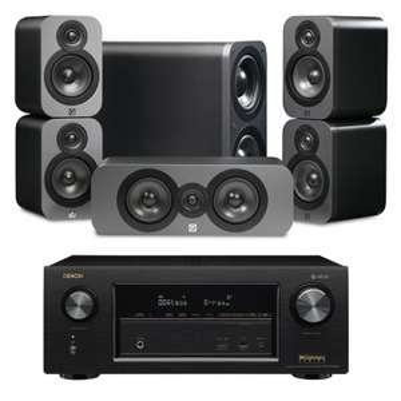 Denon AVR-X2400H AV Receiver with Q Acoustics 3000 Cinema Speaker System - £769.90 @ Peter Tyson