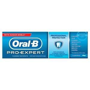 Oral-B Pro Expert Professional Protection Mint Toothpaste 75Ml now £1.90 Tesco
