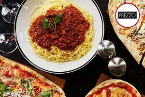 Three Course Meal with Glass of Wine for Two at Prezzo £23.10 BuyAGift
