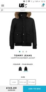 Tommy Hilfiger HAMPTON BOMBER DOWN JACKET £145 down from £290 @ USC