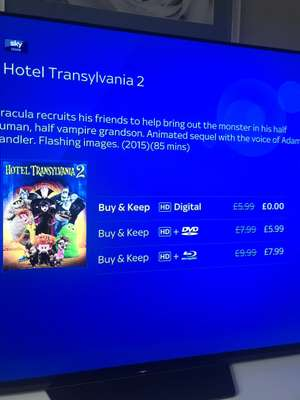 Hotel Transylvania 2 is currently FREE @ Sky Store