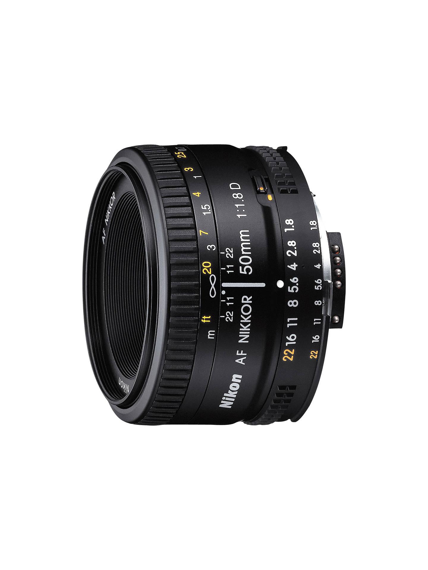 Nikon FX 50mm f/1.8D AF Standard Lens - £109 - John Lewis & Partners