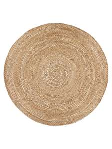 John Lewis & Partners - Croft Collection Jute Round Rug, Natural, Dia.180cm - £100 Delivered