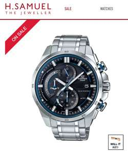 Casio Edifice EQS-600D Solar Stainless Steel Double Dial Bracelet Watch - £99.99 (£89.99 with newsletter sign up) @ H Samuel