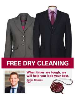 Timpson: Get Free Dry Cleaning if you're UNEMPLOYED? GOT AN INTERVIEW?