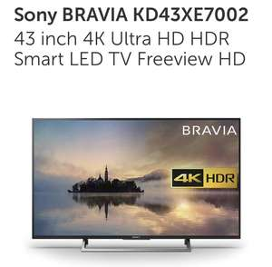 Sony BRAVIA KD43XE7002 43 inch 4K Ultra HD HDR Smart LED TV Freeview HD £374.95 @ Richer Sounds
