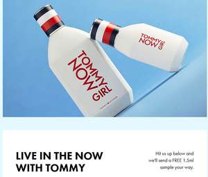 Free Tommy Now Or Tommy Now Girl 1.5ml Sample, 5000 Available *Need To Sign Into ASOS Account First*
