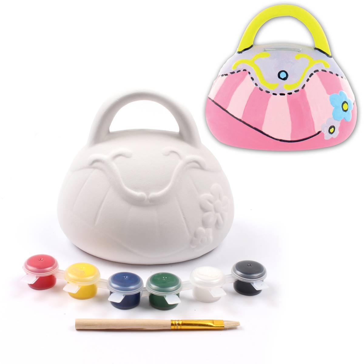 Hobbycraft Paint Your Own Handbag Money Box was £3.50 now £1.75.