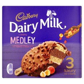 Cadbury Dairy Milk Medley 3 Luxury Ice Creams3x90ml £1 @ Heron Foods
