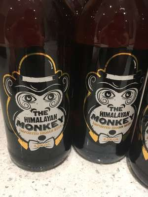 The Himalayan monkey beer 69p a bottle in home bargains / quality save (imported bottled lager from India 4.8% volume)
