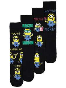 Despicable Me Minions Socks 4 Pack £3 @ Asda