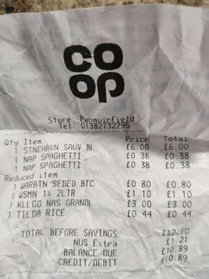 Napolina Spaghetti 38p / Tilda brown basmati 44p in-store @ CO-OP