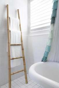 Bamboo towel ladder rail £7.99 - RRP £39.99 - Clearance Bargains (Argos)