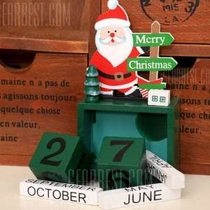 Christmas Santa Claus Wooden Block Calendar - £2.35 Delivered at GearBest