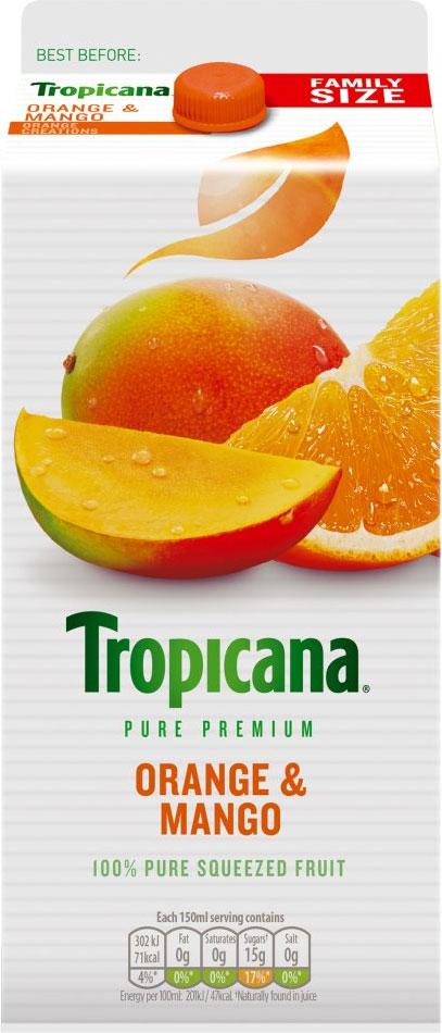 Tropicana Pure  Orange & Mango Juice (1.6L) £1 @ Heron Foods