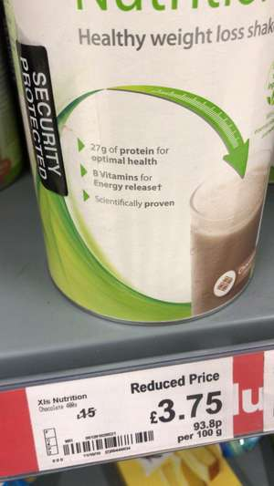 Xls meal replacement £3.75 @ Asda - Ipswich