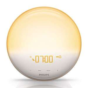 Philips Wake-Up Light Alarm Clock HF3520/01 Coloured Sunrise Simulation - 5 Sounds and Radio Function £84.99 @ Amazon