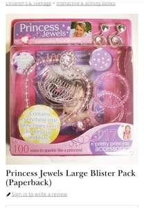 Waterstones Princess Jewels Large Blister Pack £1.58 - Free c&c