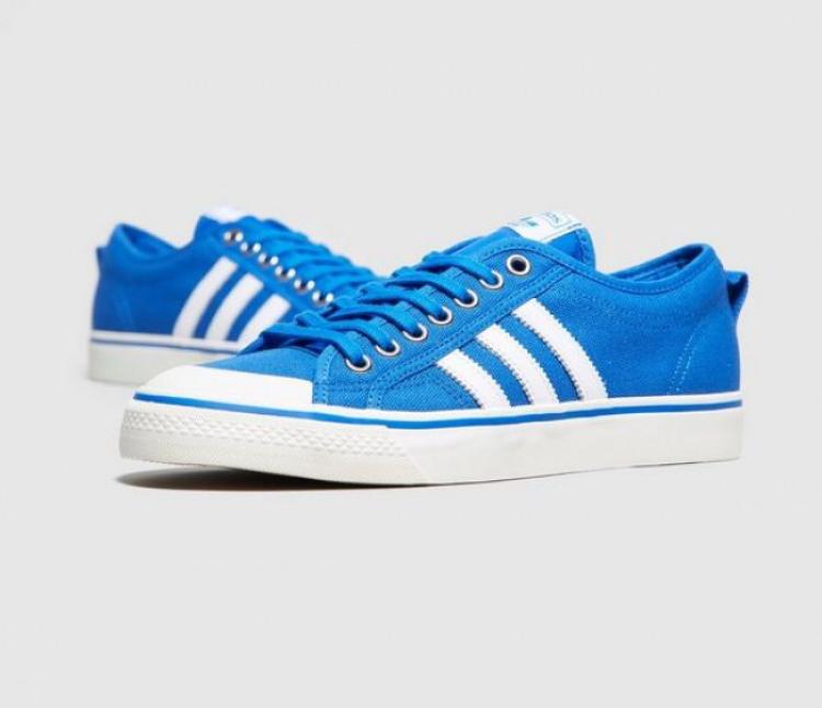 adidas Originals Nizza Low Trainers Blue £21.99 Sizes 3.5 up 6.5 @ M&M Direct p&p £4.99 or Free with Premier