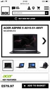 Acer aspire 5 A515-51-86VY £579.97 @ Box