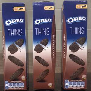 X3 packs Oreo chocolate creme thins for £1 at poundland