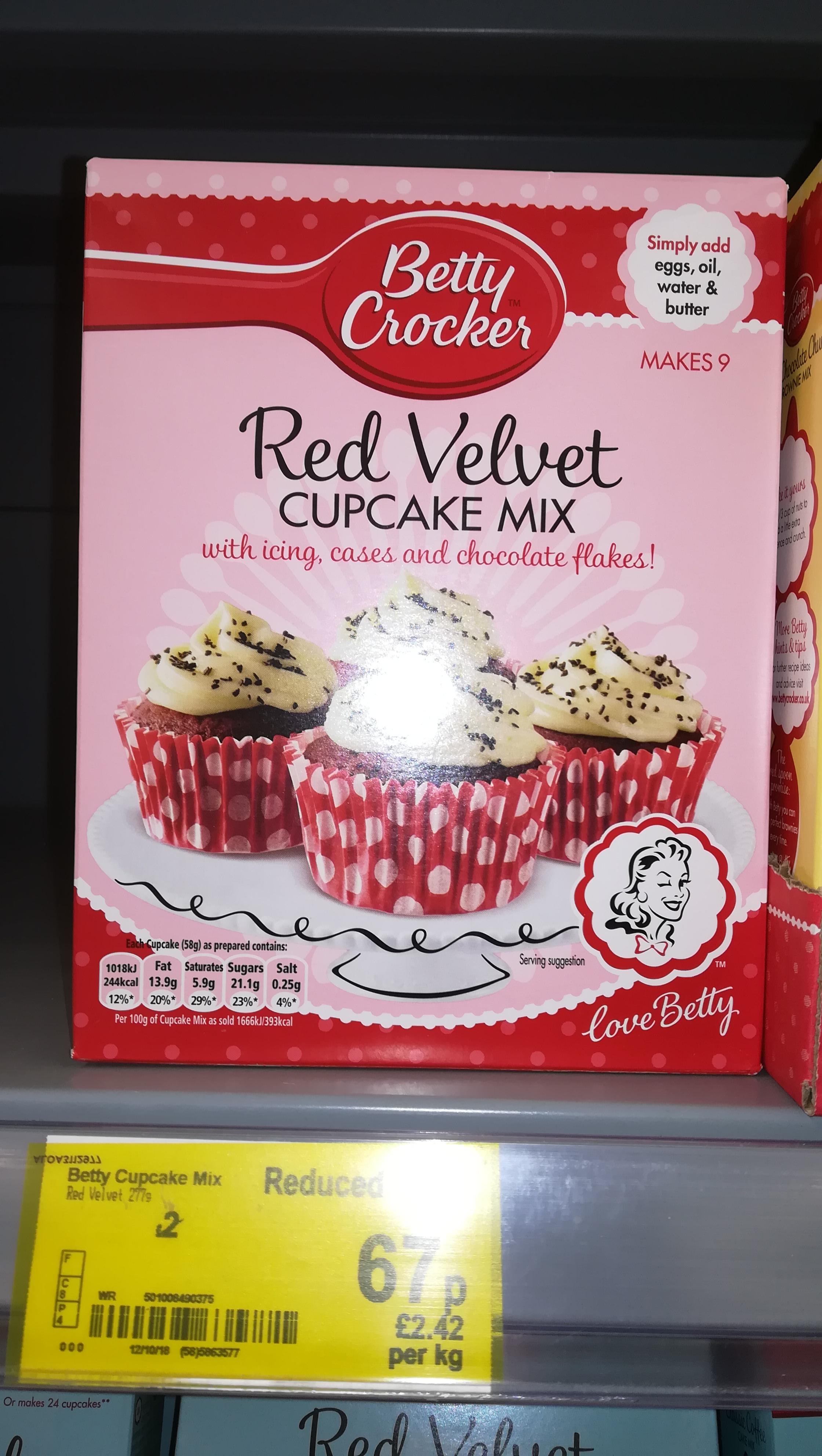 Betty crocker red velvet cupcake mix 67p @ Asda Hailsham