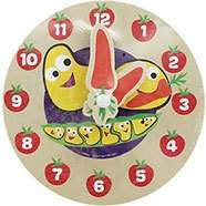 CBeebies My First Wooden Clock only 80p, 45 Piece Puzzle Only £1.60 & My First Wooden Peg Board only £2.40 with code Free C&C @ The works