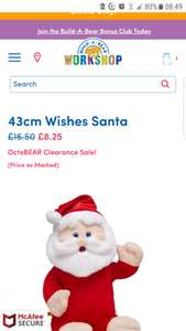 Build A Bear 43cm Wishes Santa. Flash sale on some items from 14th-16th October