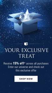 15% off everything at Mugler Store + free delivery, free samples and free gift over £60